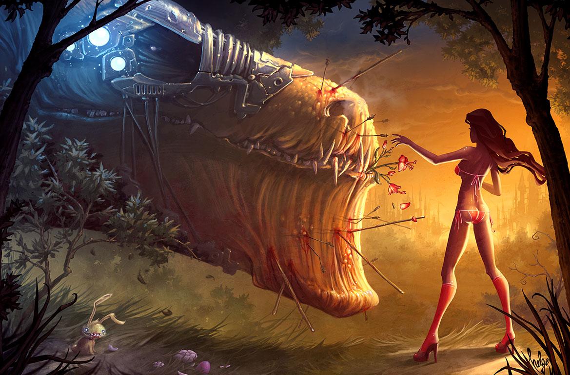 Чудовище ебёт девушку, Девушку трахает морской монстр (видео) 11 фотография